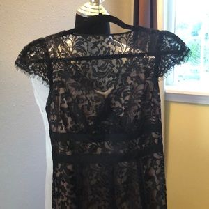 Ann Taylor Loft Black Lace midi-dress